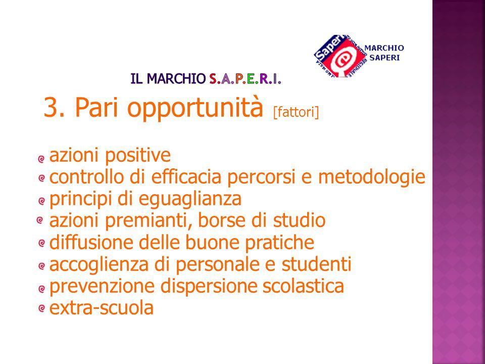 3. Pari opportunità [fattori]